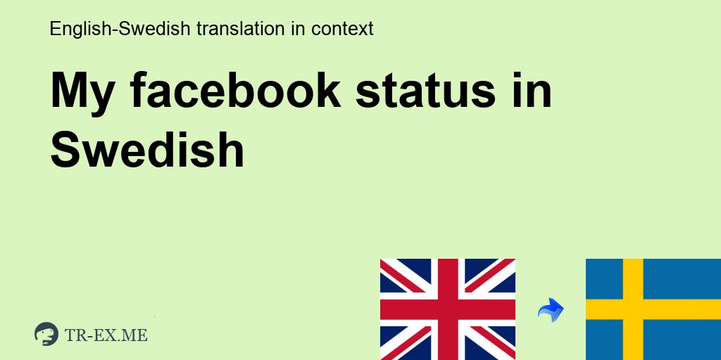 Facebook Status På Svenska