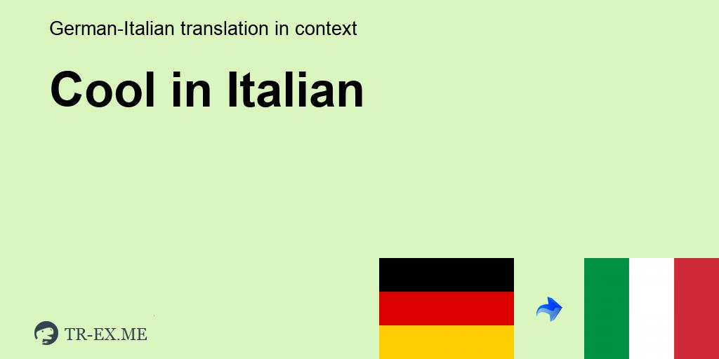 besser kennenlernen auf italienisch)