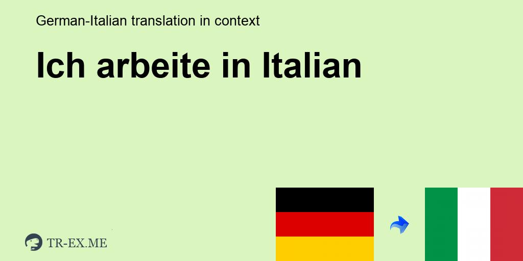 Viel auf arbeite italienisch ich ich arbeite