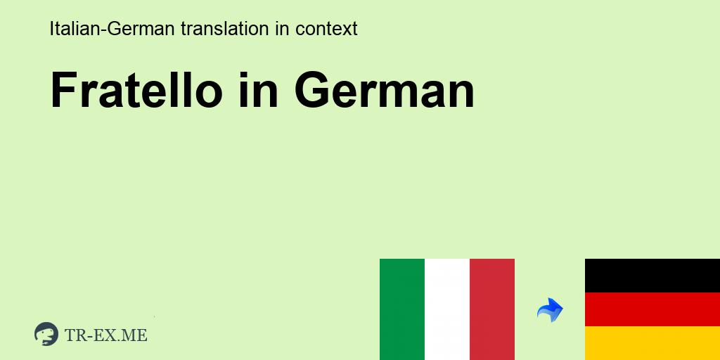Fratello E Sorella Italienisch