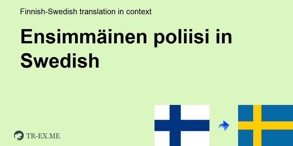 Käännös Ruotsi Suomi