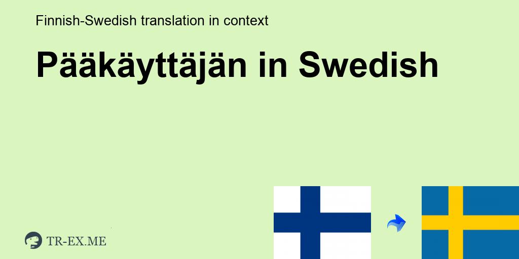 Kuitenkin Ruotsiksi