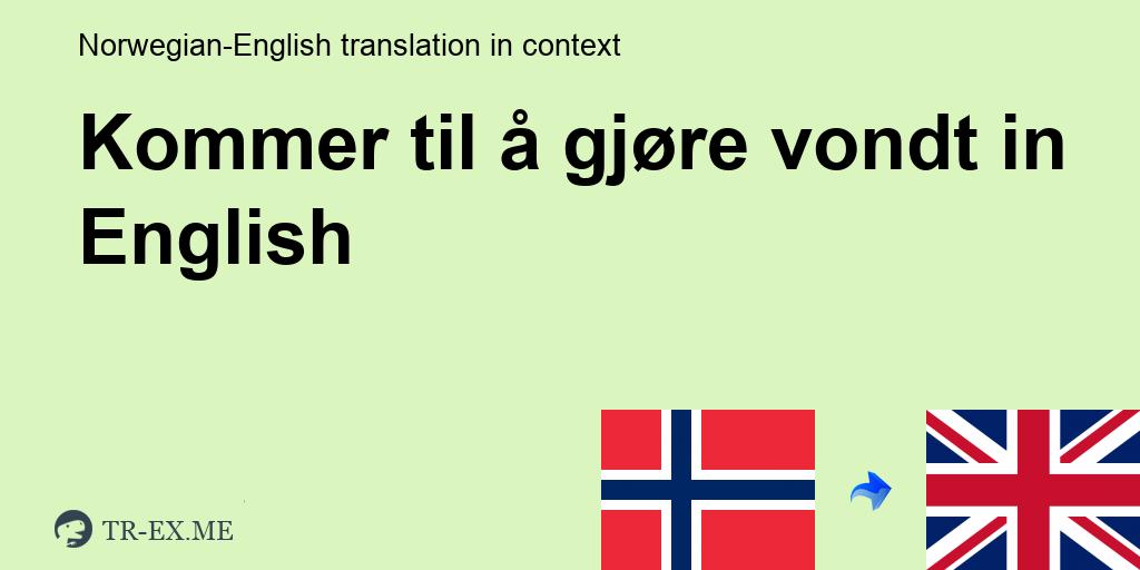 Dette Kommer Til Å Gjøre Vondt