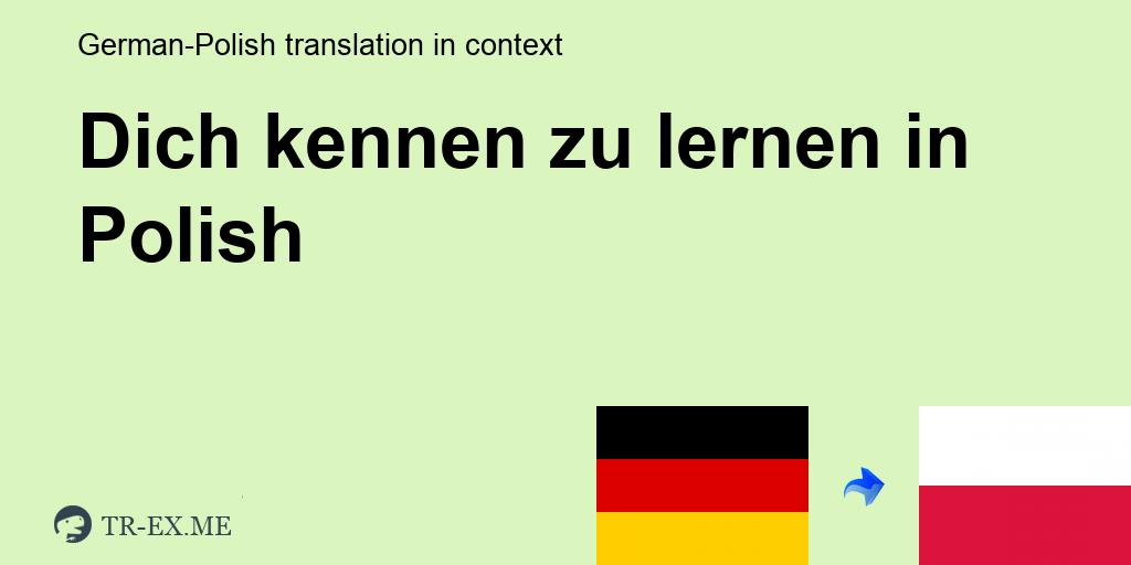 zum kennenlernen po polsku