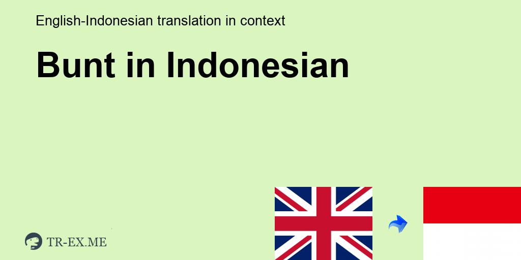 Apa Arti Bunt Dalam Bahasa Indonesia Terjemahan Dalam Bahasa Indonesia