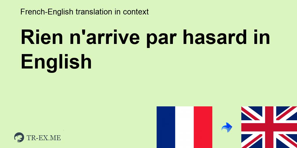 se rencontrer par hasard traduction