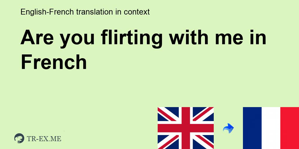 flirter french