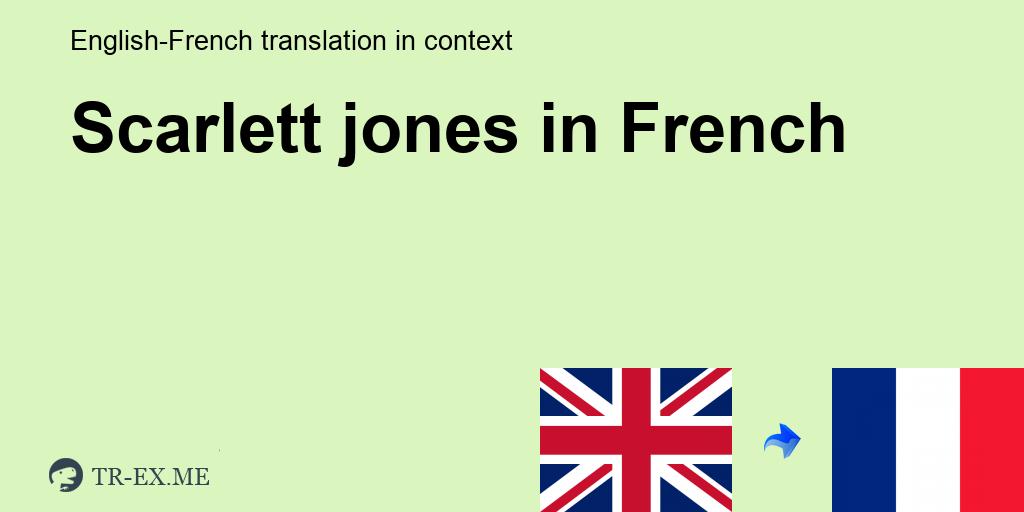 Jones scarlett Scarlett Jones