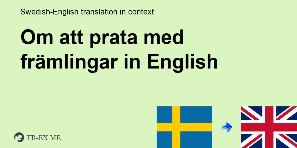 Chatta Med Främlingar På Svenska